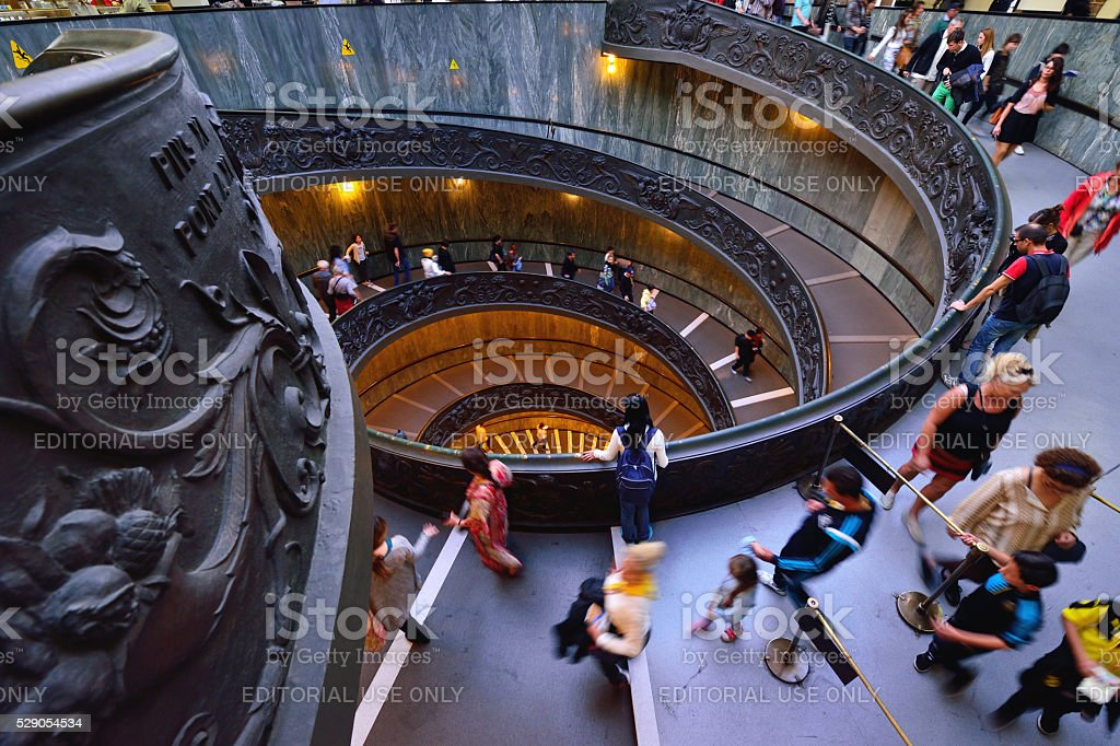 Spiral Staircase, Vatican Museum stock photo