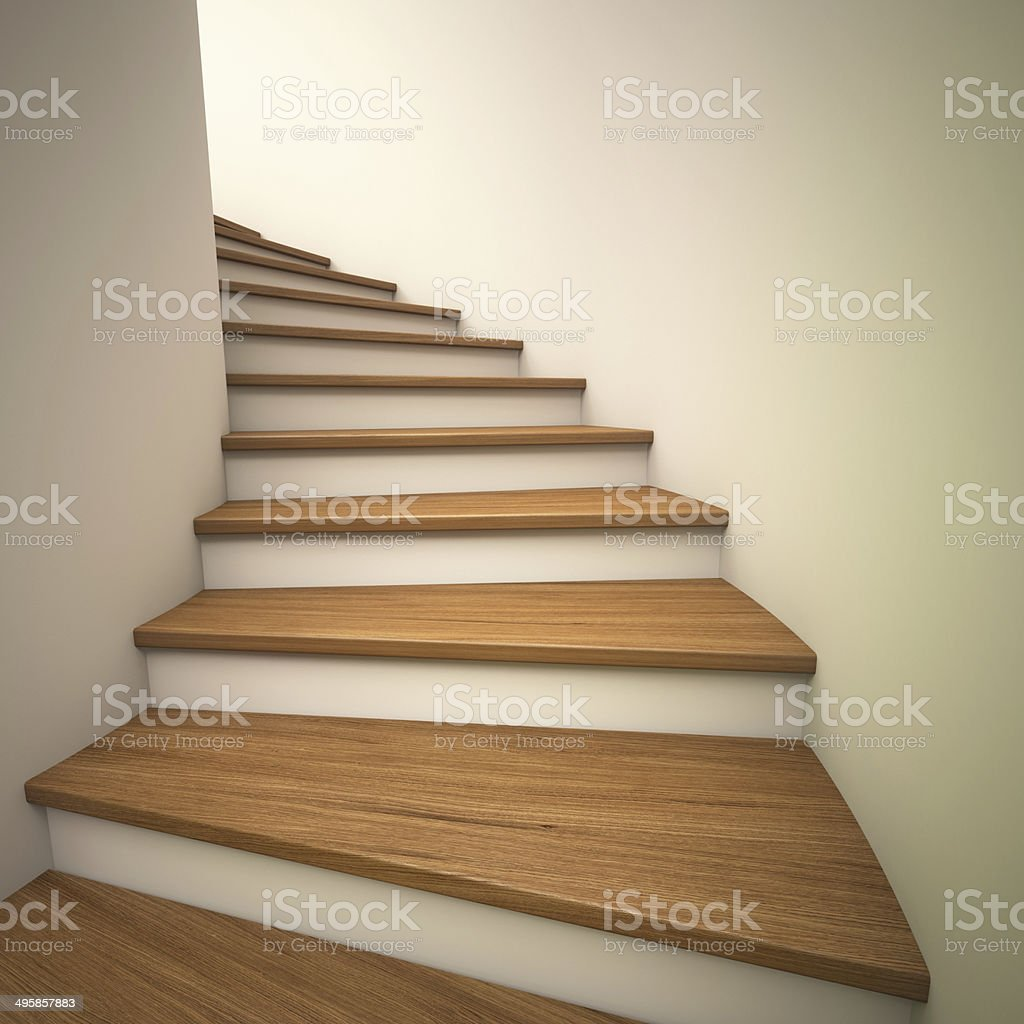 Spiral staircases stock photo