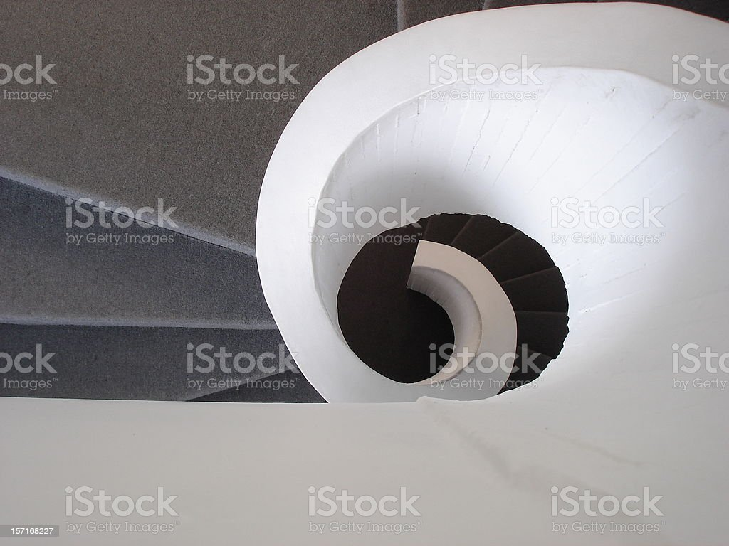 Spiral Stairs 2 stock photo