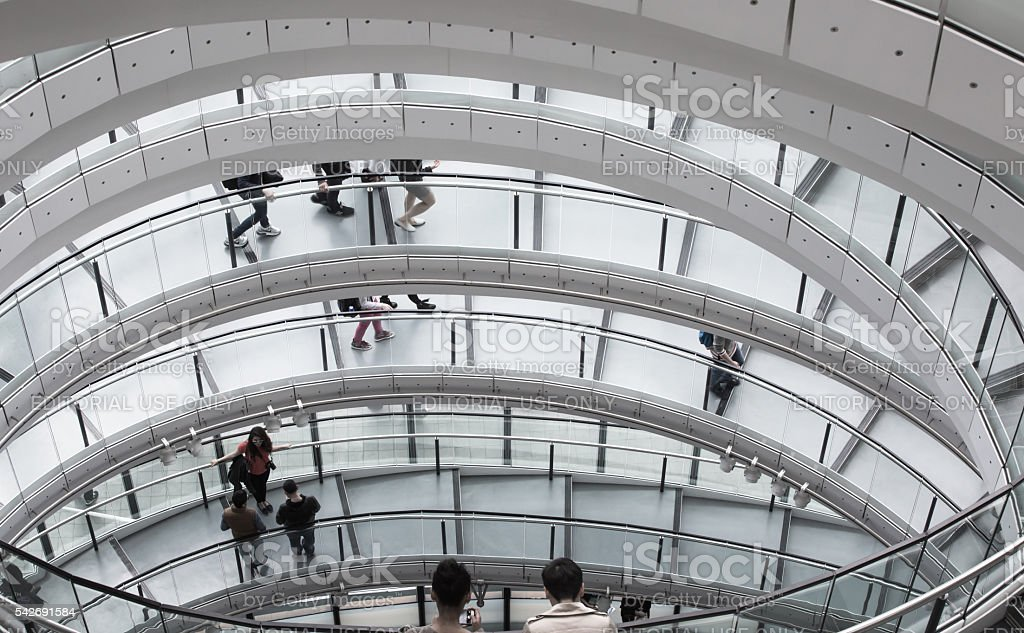 Spiral stairs, Interior of City Hall London stock photo