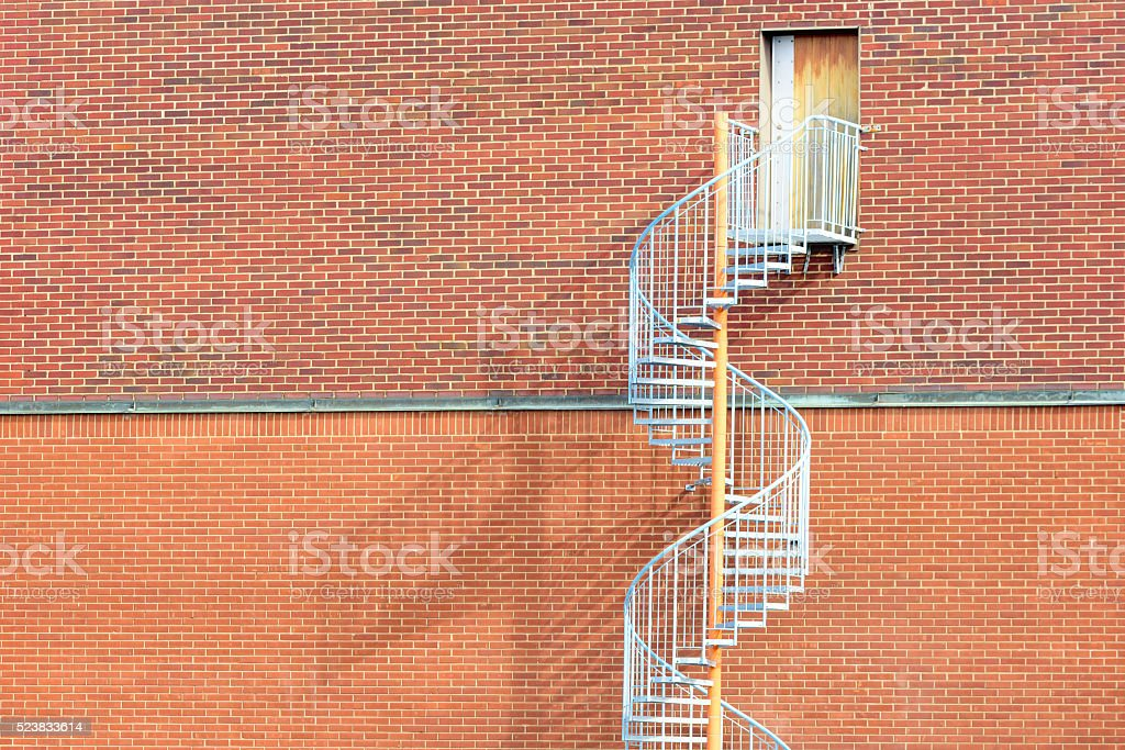 Spiral stairs stock photo