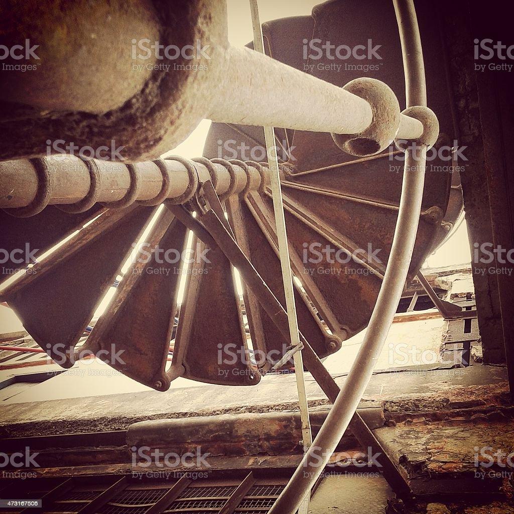 spiral stairwell stock photo