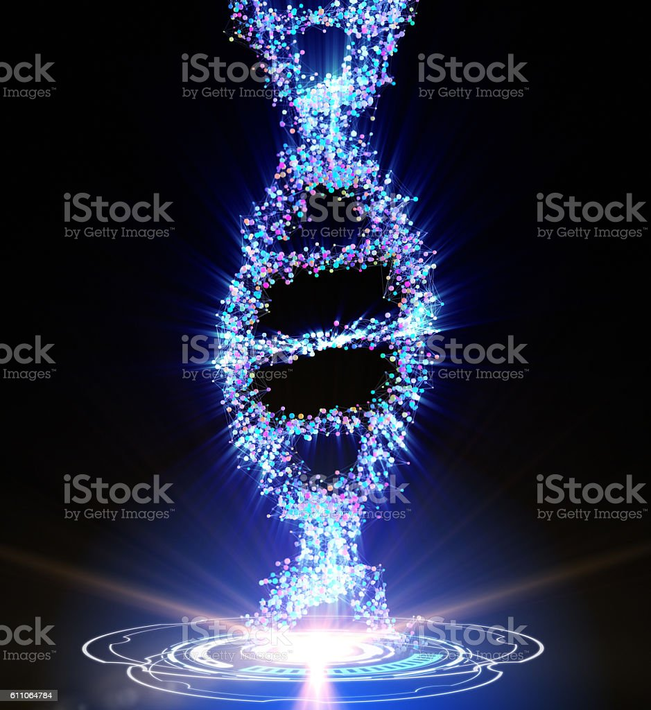 Spiral strand of DNA stock photo