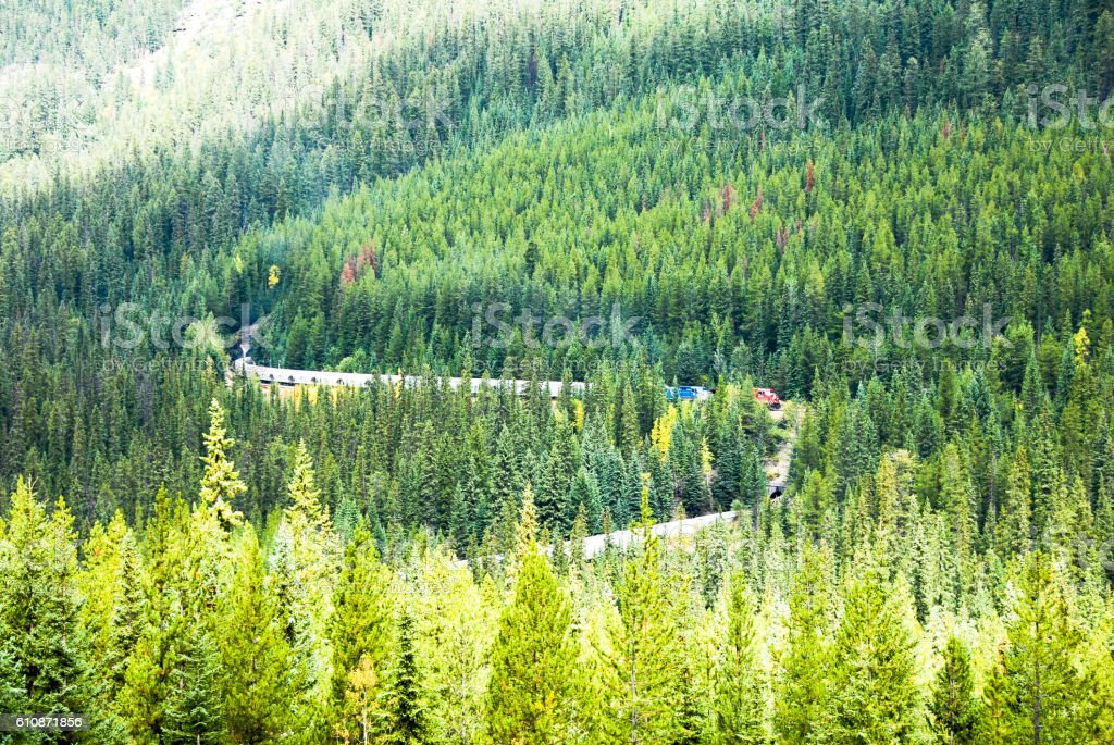 Spiral Tunnels on the Canadian Pacific Railway, Yoho, Canadian Rockies stock photo