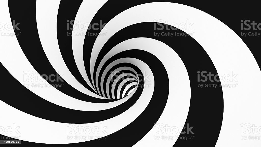 Spiral Wormhole (s1n1) stock photo