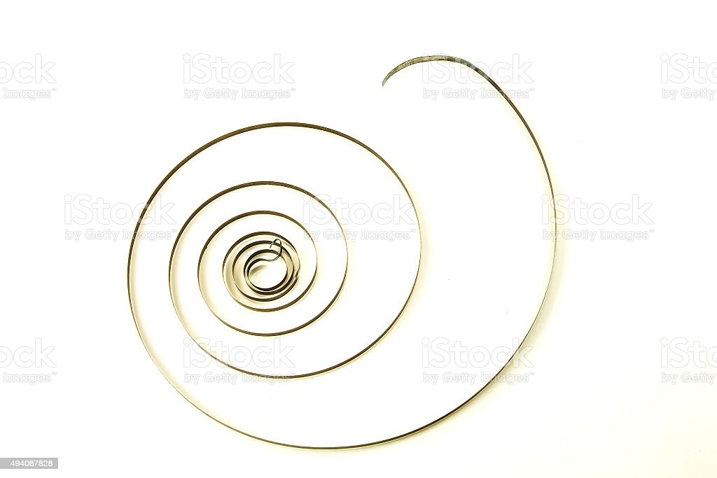 Spirally expanding stock photo