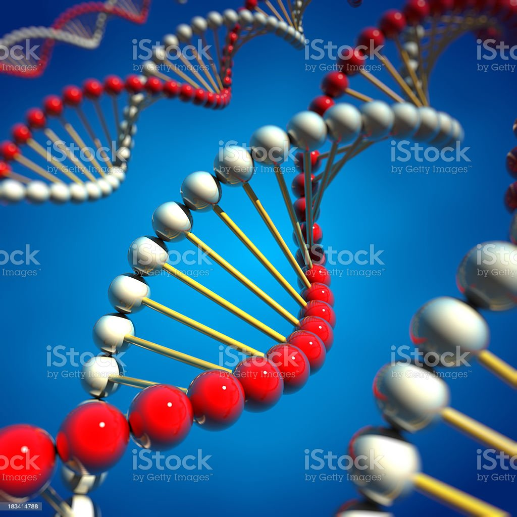 DNA spirals royalty-free stock photo