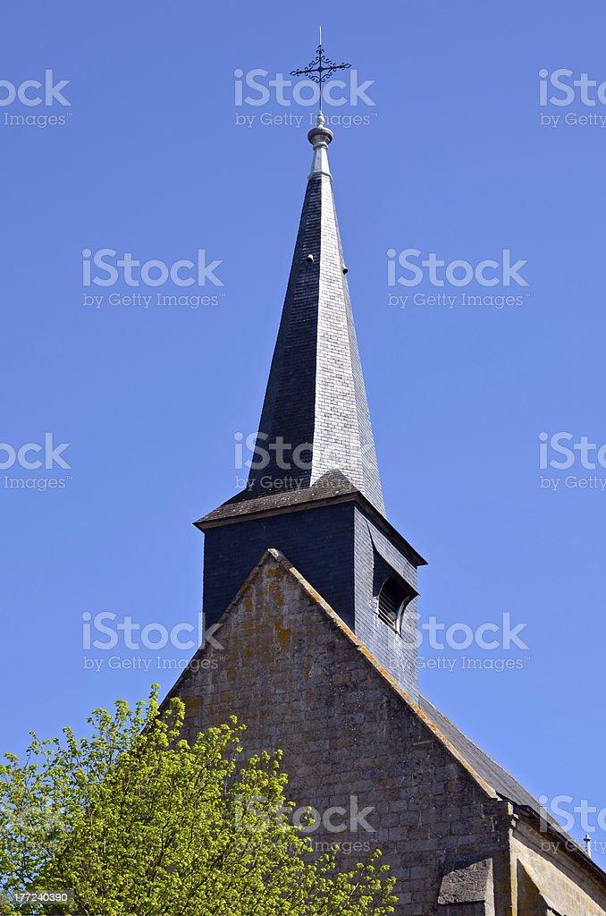 Spire church of Guérande in France stock photo