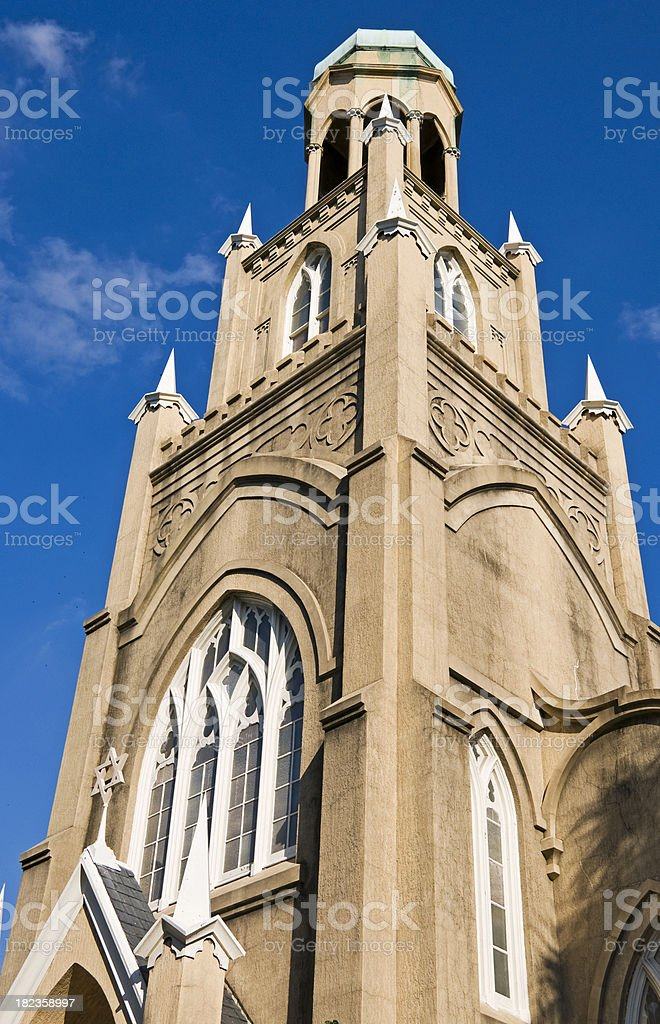 Spire of 18th century synagogue royalty-free stock photo