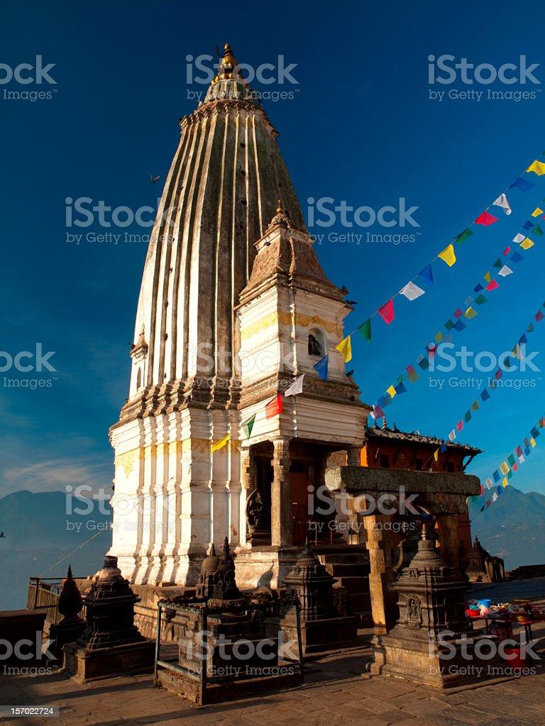 Spire of Swayambhunath Stupa. royalty-free stock photo