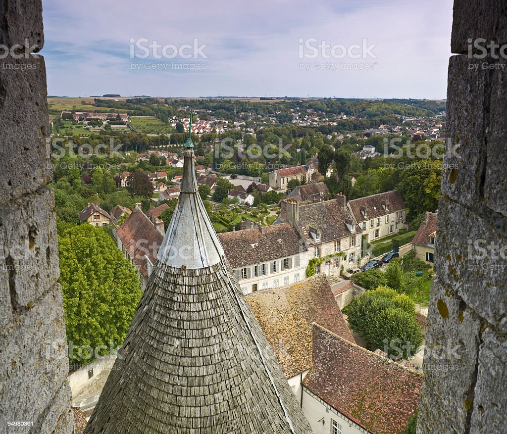 Spires and rooftops France stock photo
