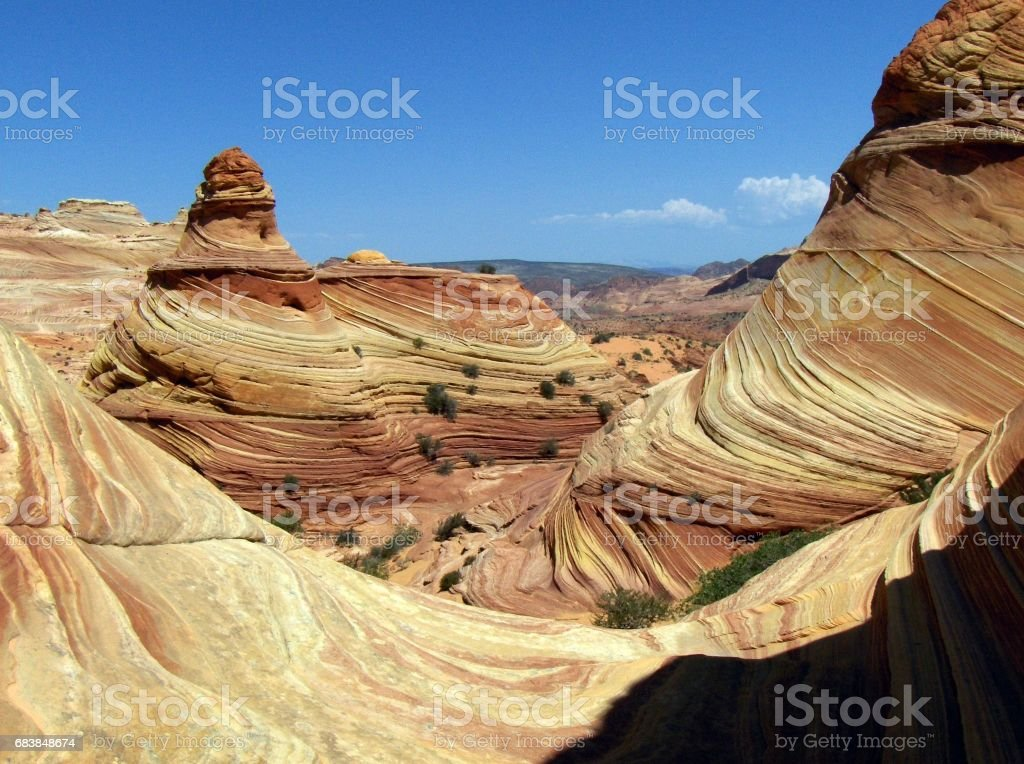 Spires and Waves at Coyote Buttes stock photo