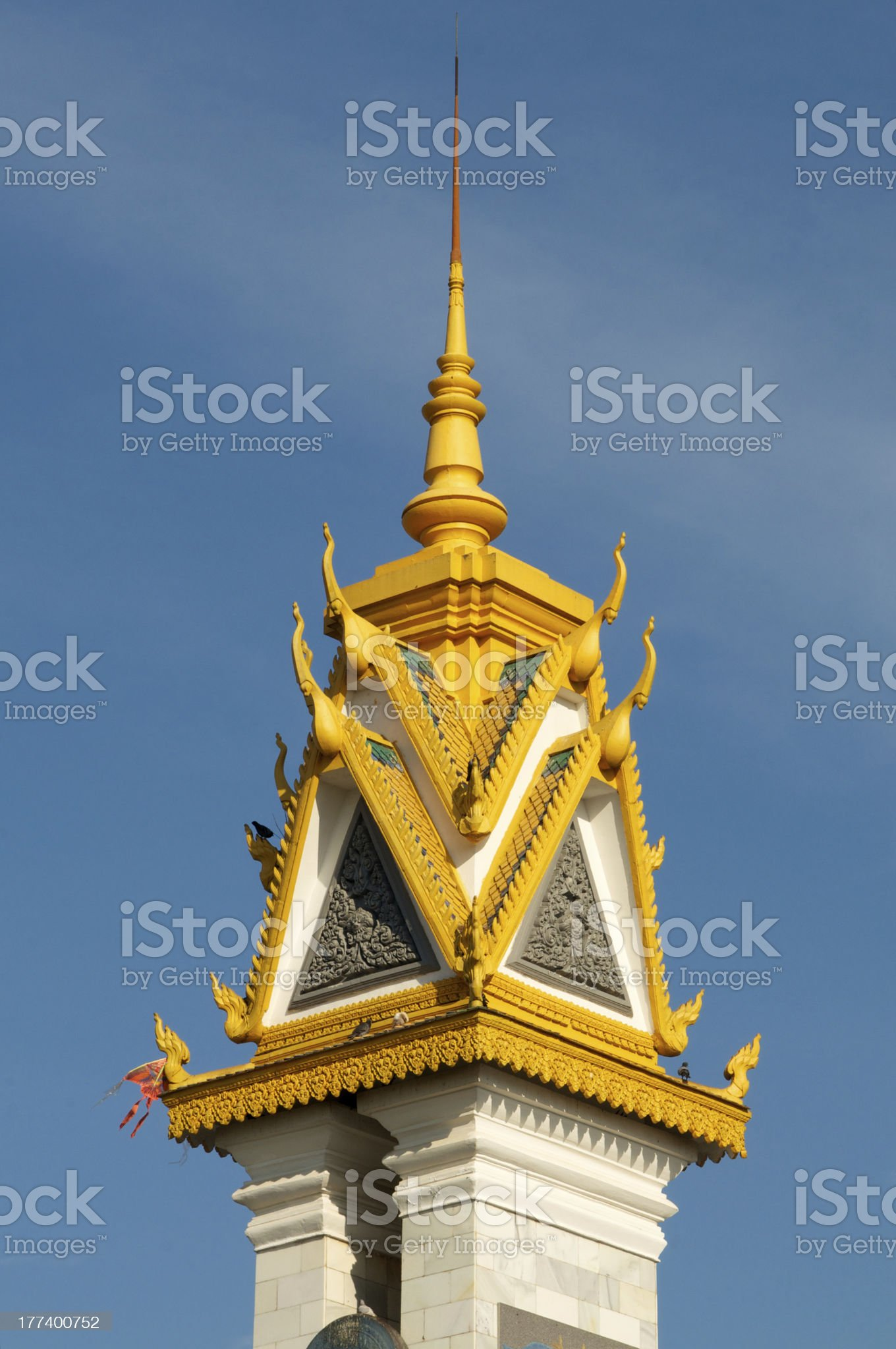 Spires of Cambodian Royal Palace Building. royalty-free stock photo