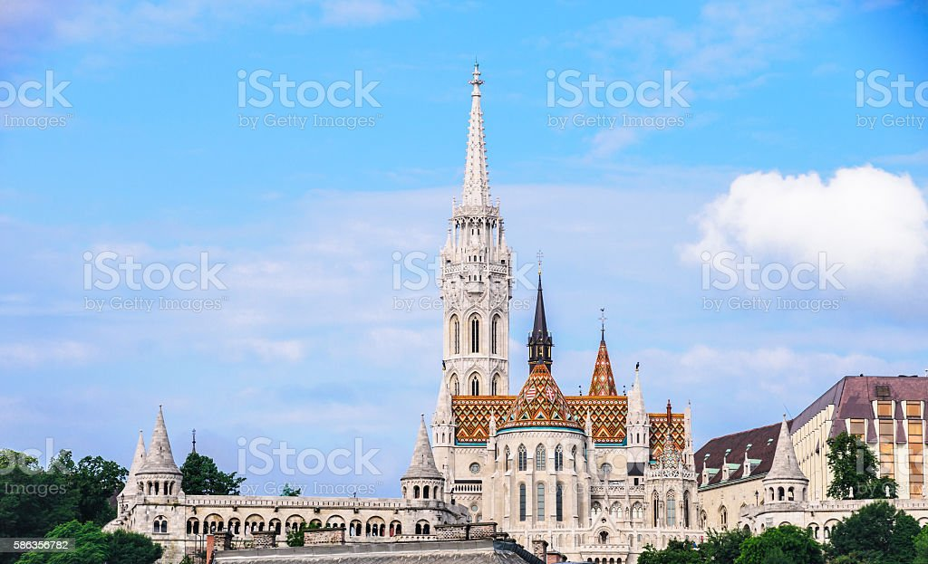 Spires of Castle Hill stock photo
