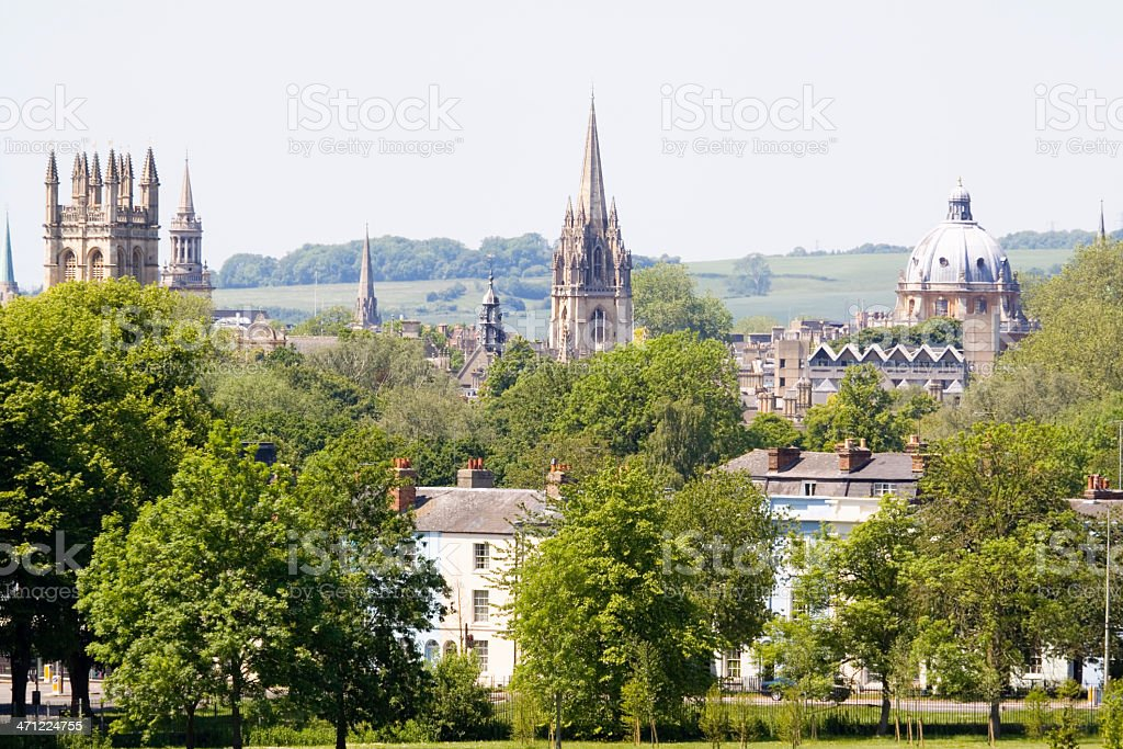 Spires of Oxford royalty-free stock photo