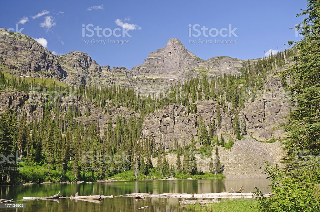 Spires over an Alpine Lake royalty-free stock photo