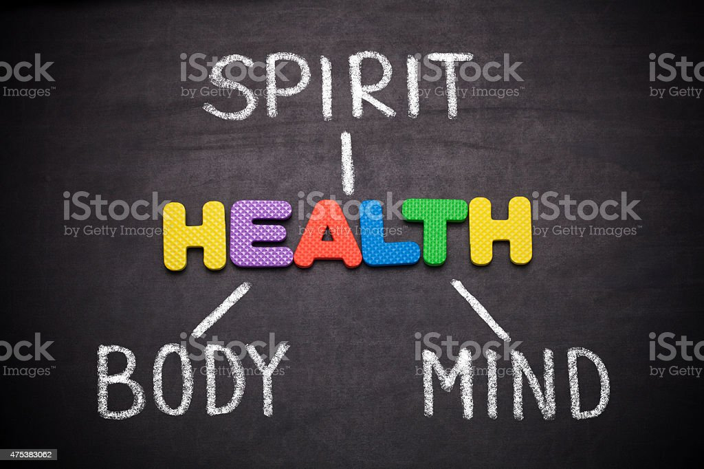 Spirit, Body and Mind , health concept stock photo