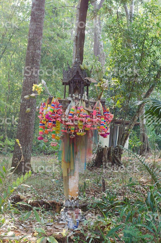 spirit house in thailand stock photo