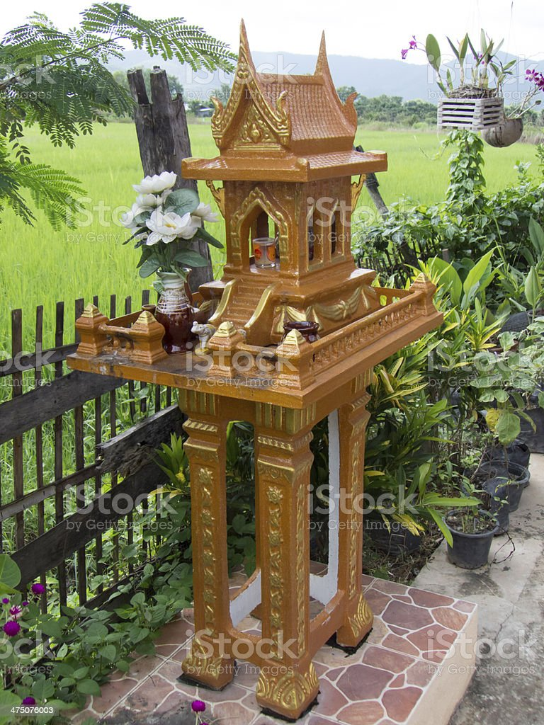 Spirit house, Thailand culture stock photo