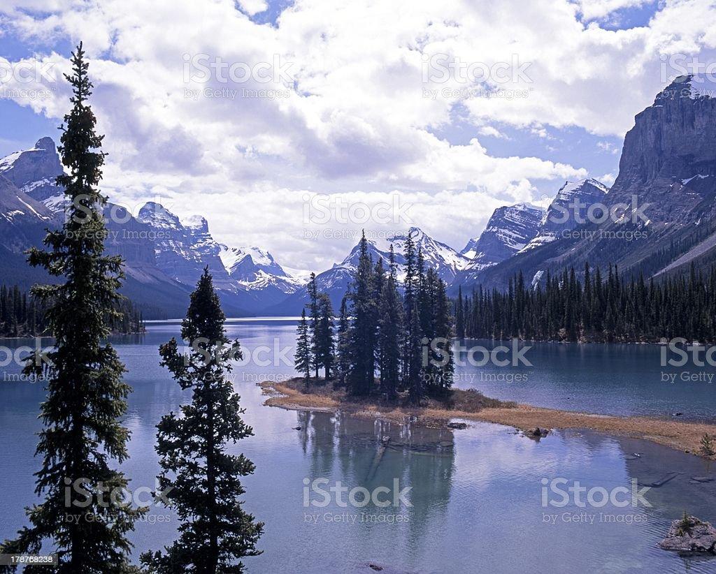Spirit Island, Maligne Lake, Canada. royalty-free stock photo