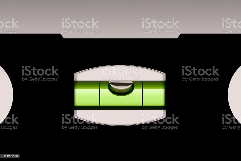 Spirit level accuracy (XXL) royalty-free stock photo