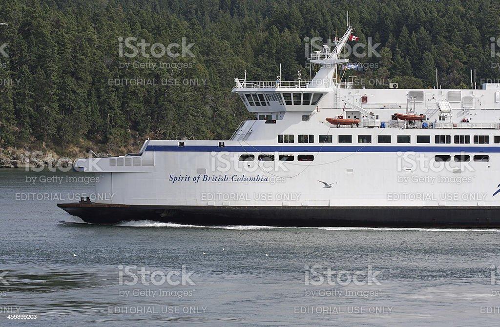 Spirit of British Columbia Ferry, Swartz Bay-Tsawwassen, Canada stock photo