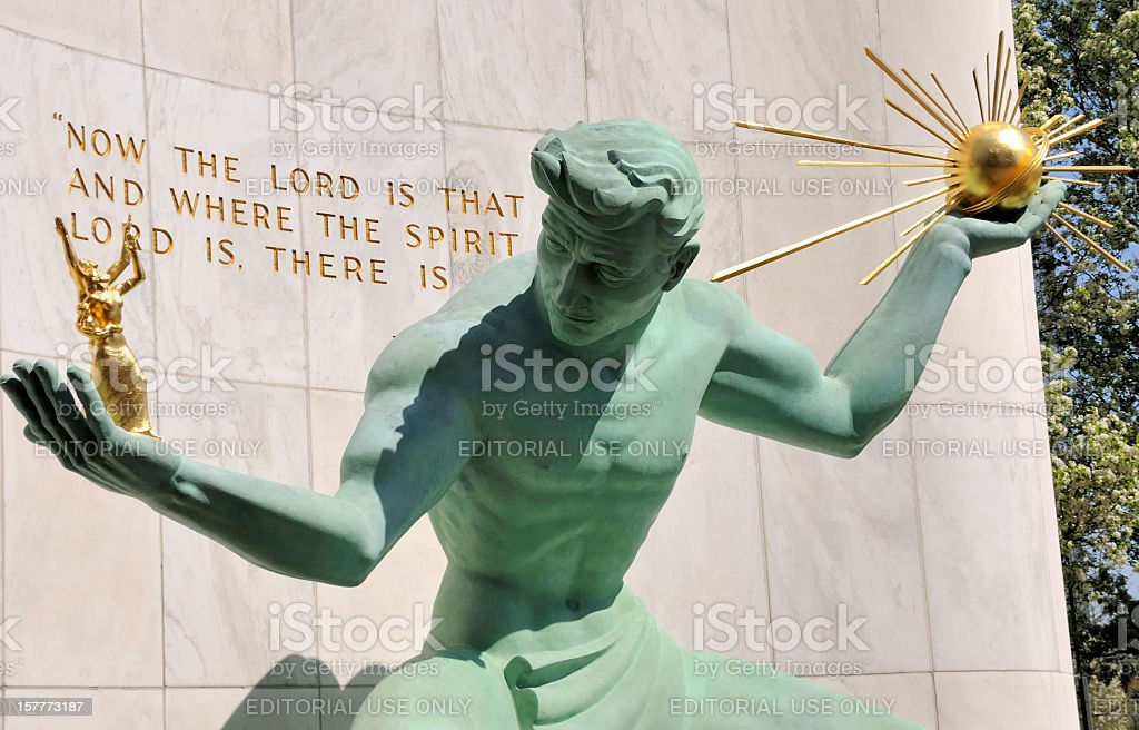 Spirit of Detroit stock photo