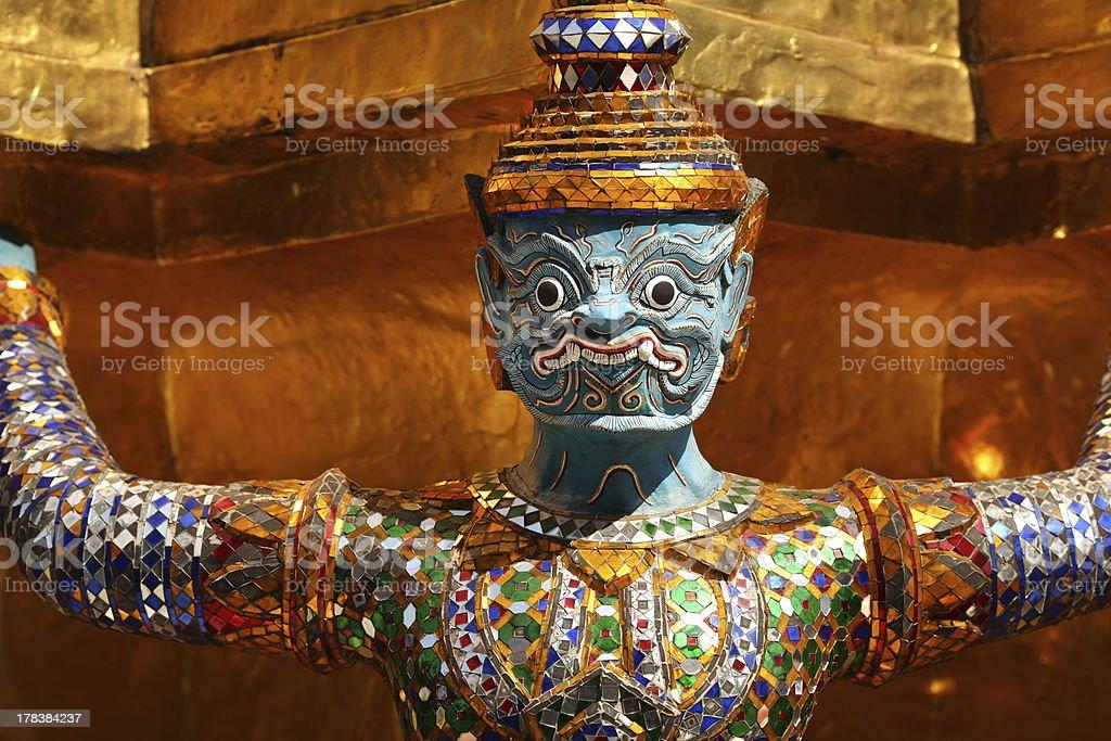 Spirit statue at the Grand Palace in Bangkok royalty-free stock photo