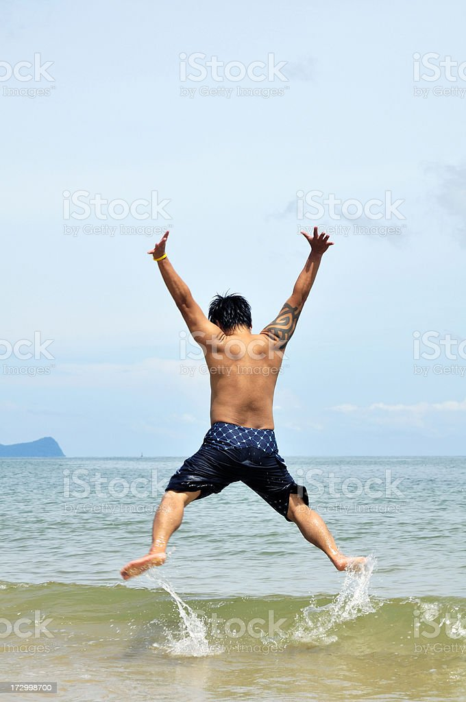 Spirited Man royalty-free stock photo