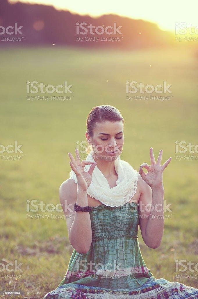 Spiritual Meditation royalty-free stock photo