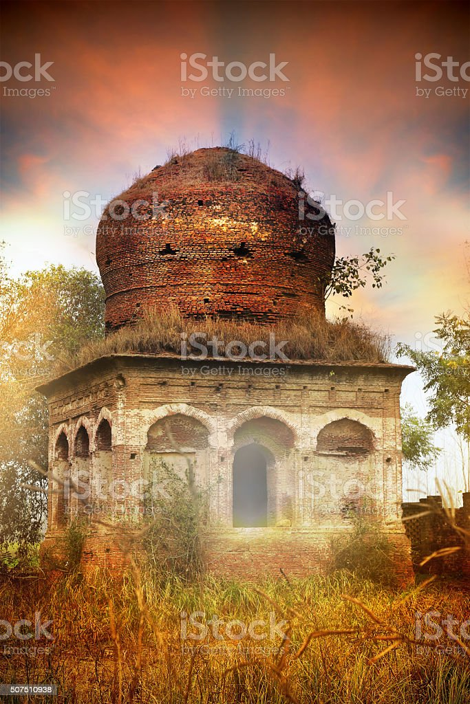 Spiritual Monument Vertical in the Dusk Environment stock photo
