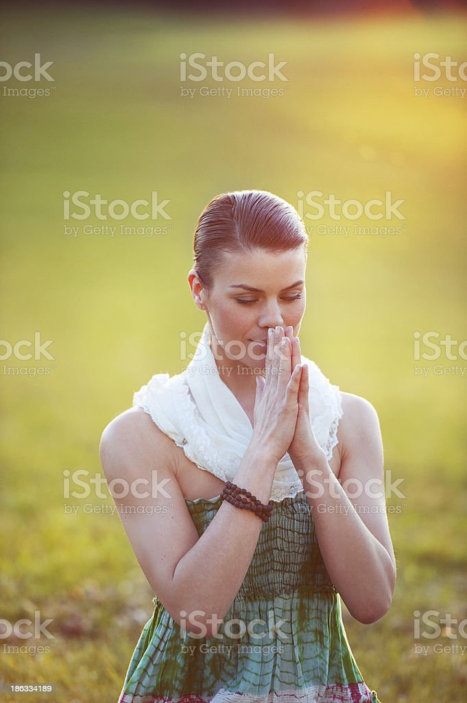 Spiritual Portrait royalty-free stock photo