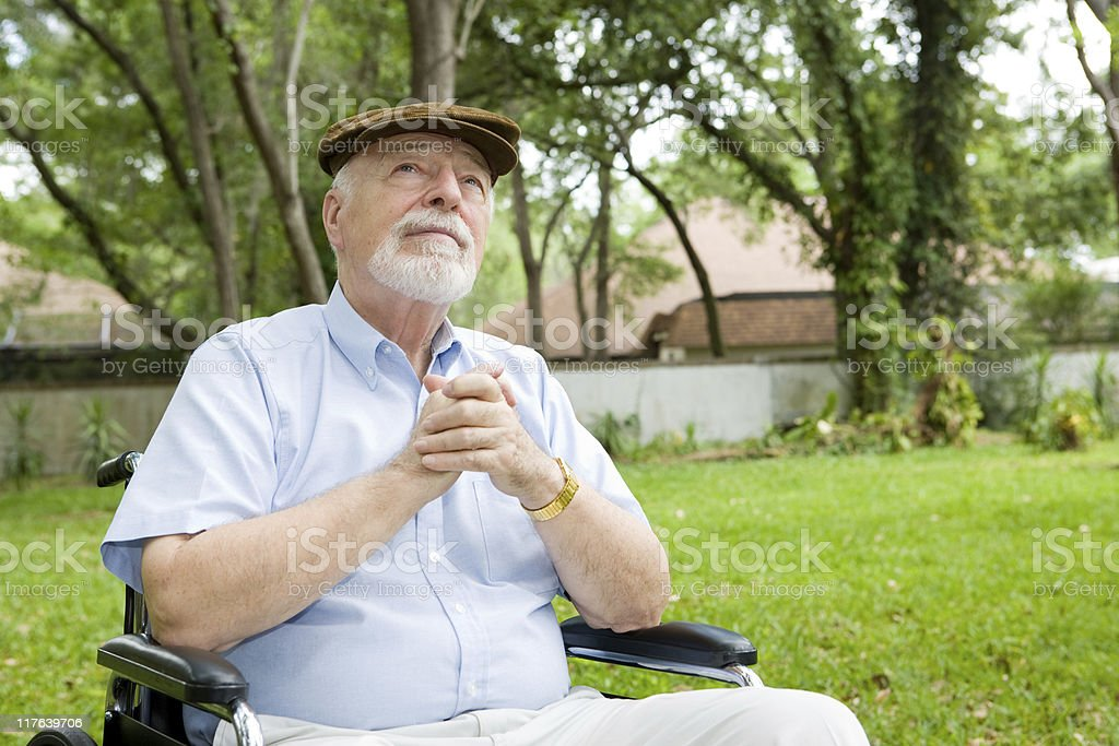 Spiritual Senior Man stock photo