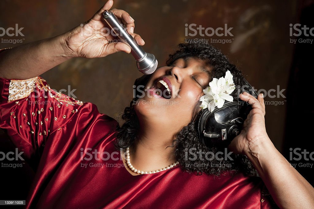 Negro spiritual singer stock photo