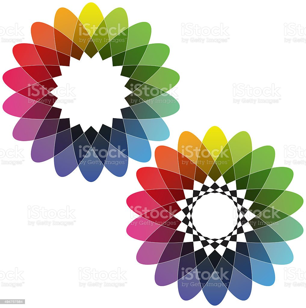 Spirograph - Color Spectrum (Set B) stock photo