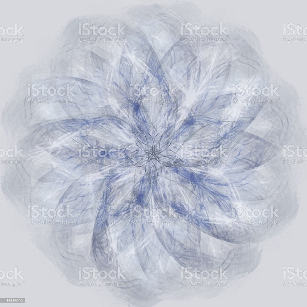 Spirograph in shades of blue stock photo