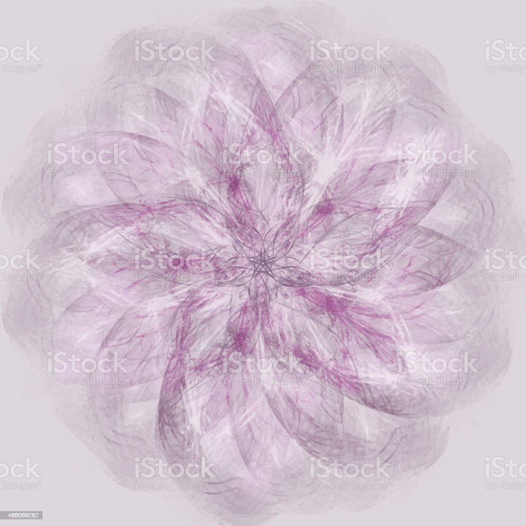 Spirograph in shades of purple stock photo