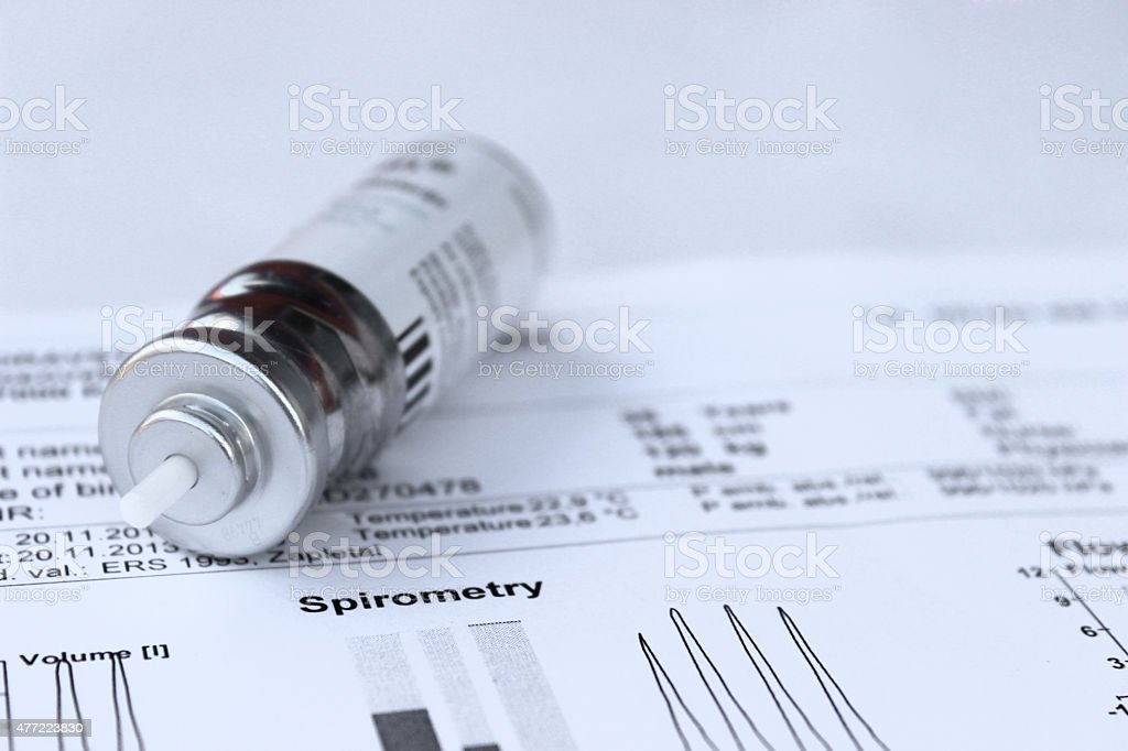 Spirometry test stock photo