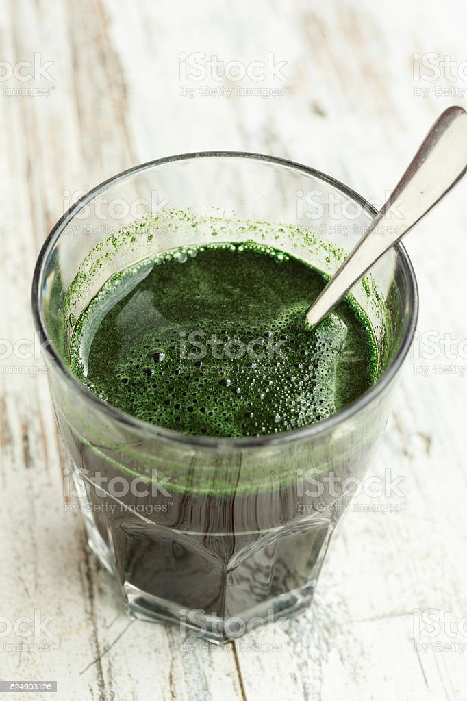 Spirulina algae drink stock photo