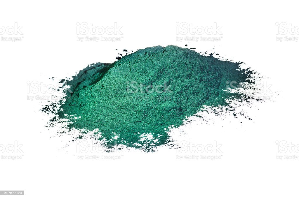 Spirulina isolated on white stock photo