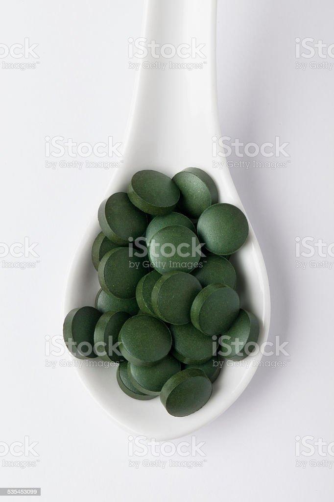 spirulina stock photo