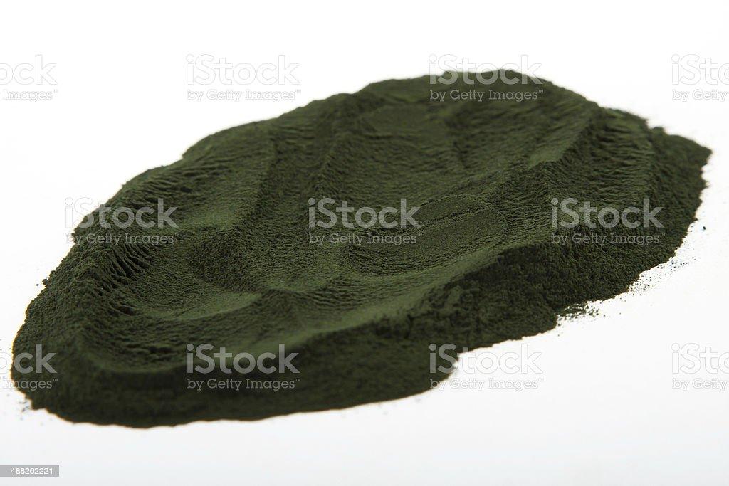 Spirulina powder algae stock photo