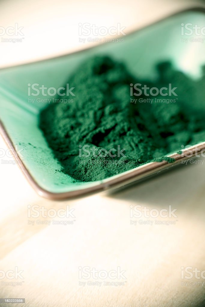 Spirulina Powder stock photo