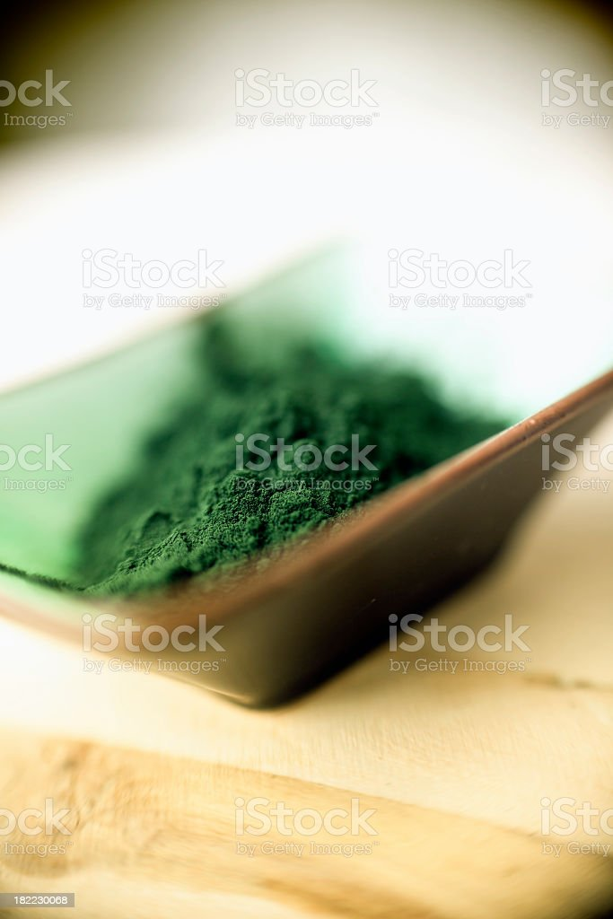 Spirulina Powder royalty-free stock photo