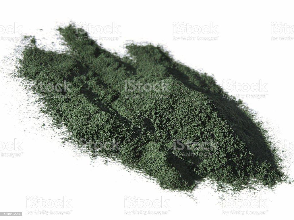 Spirulina powder royalty-free stock photo