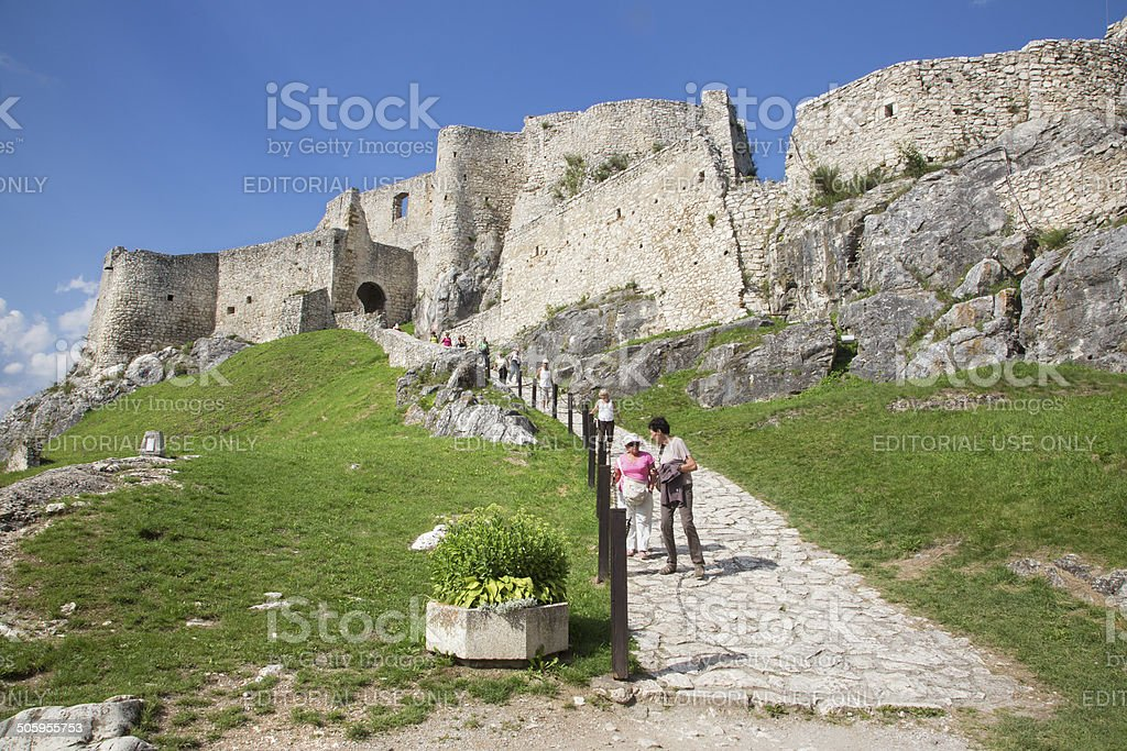 Spissky castle - Look from middle courtyard stock photo