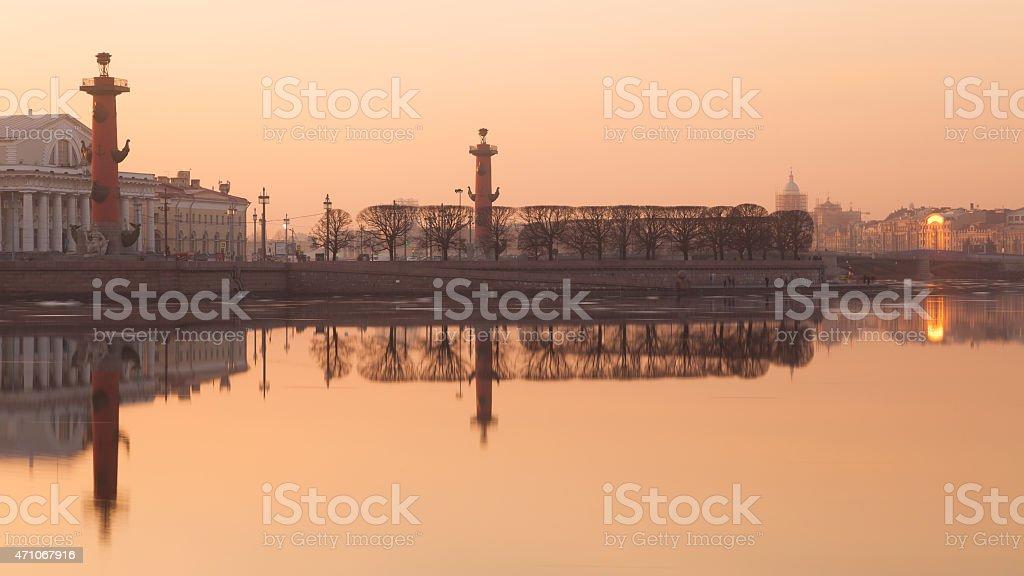 Spit of Vasilievsky Island stock photo