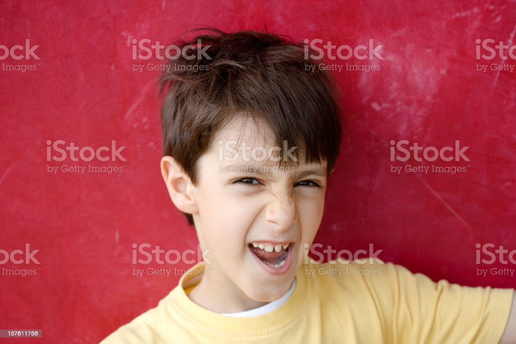 Spiteful Child Portrait royalty-free stock photo