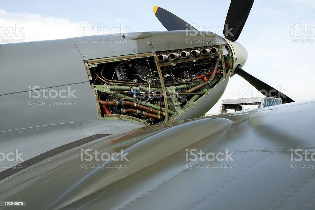Spitfire Engine royalty-free stock photo