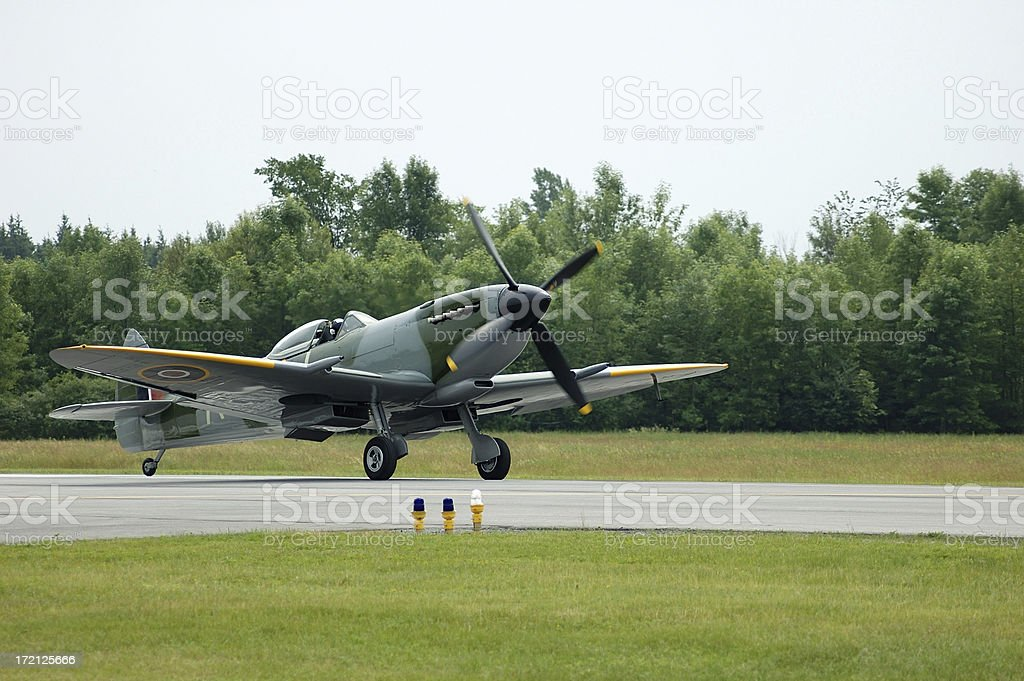 Spitfire Fighter royalty-free stock photo